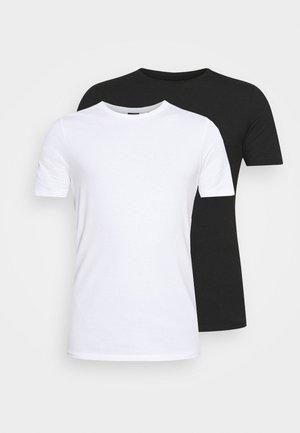 ONSBASIC LIFE SLIM O-NECK 2 PACK - Jednoduché triko - black/white