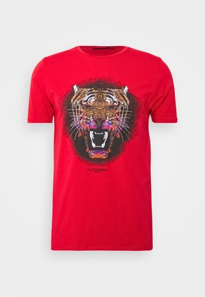 GROWLER - Print T-shirt - red