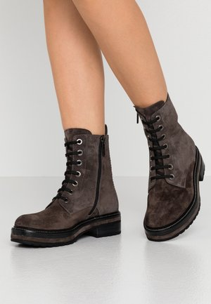 ANDREA - Platform ankle boots - antracita