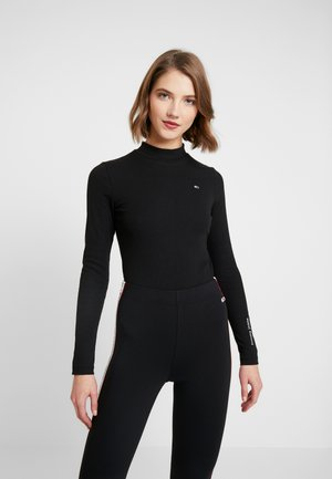 LONGSLEEVE LOGO BODY - Long sleeved top - black