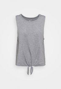 TIE FRONT MUSCLE TANK - Top - heather grey