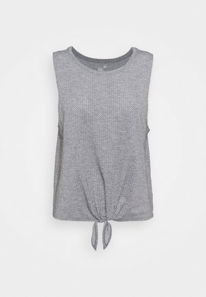 TIE FRONT MUSCLE TANK - Toppi - heather grey