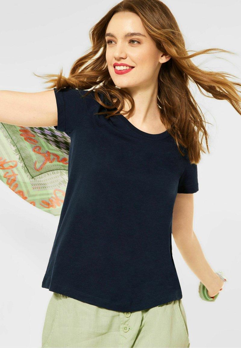 Street One - Basic T-shirt - blau