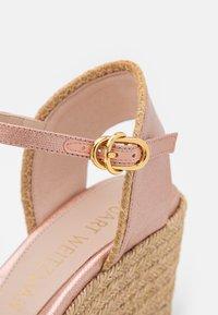 Stuart Weitzman - MIRELA - Korkeakorkoiset sandaalit - rose gold - 6