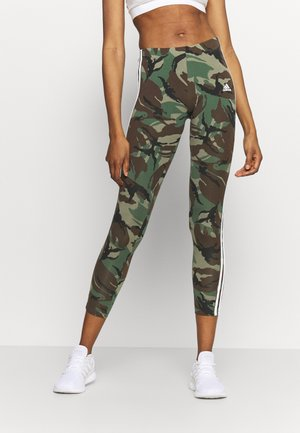 CAMO LEG - Tights - legacy green/white