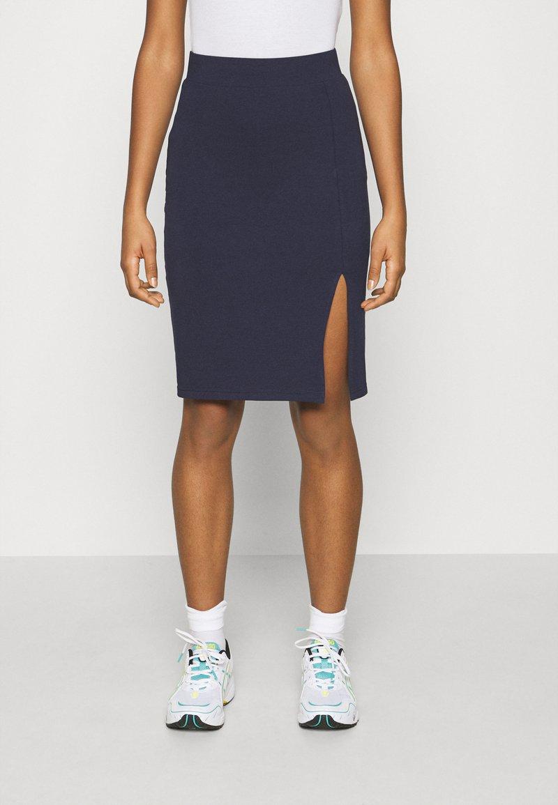 Even&Odd - BASIC - Bodycon mini skirt - Pouzdrová sukně - dark blue