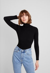 Missguided - ROLL NECK  - Strickpullover - black - 0