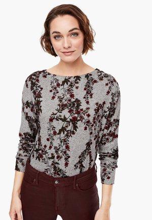 T-shirt à manches longues - grey aop flowers