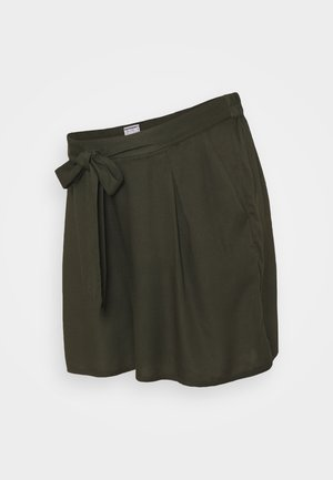 UNDER BUMP TIE WAIST - Shorts - khaki