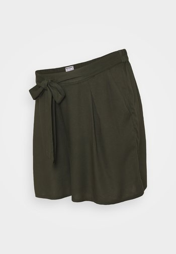 UNDER BUMP TIE WAIST - Shortsit - khaki