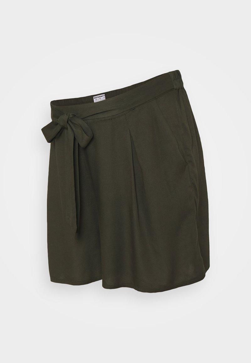 Dorothy Perkins Maternity - UNDER BUMP TIE WAIST - Shorts - khaki