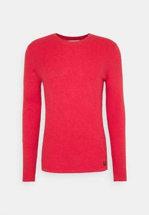 ZIGZAG STRUCTURED CREWNECK - Jumper - blush berry melange