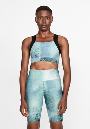 KAY PRINTED - Sports bra - green space dyed
