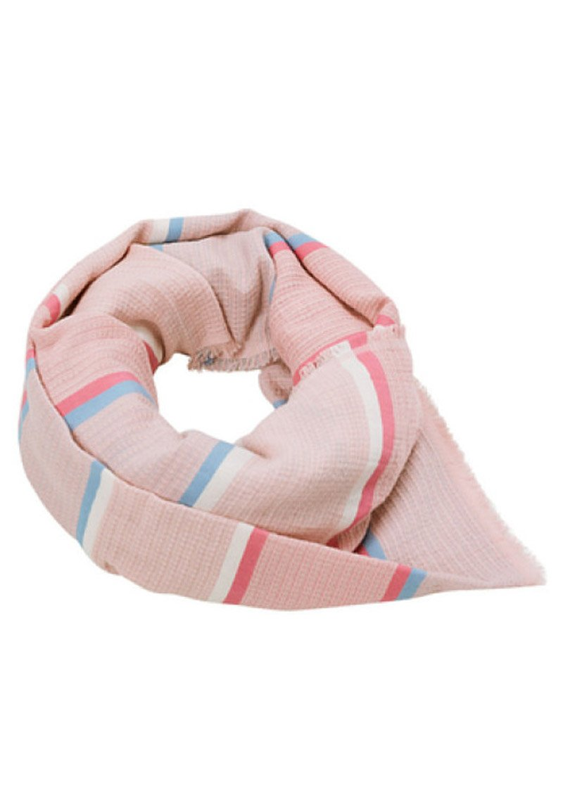 Esprit Struktur Mit Streifen-dessin - Schal Old Pink/pink Meliert