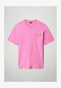 Napapijri - S-HAENA - T-shirt con stampa - pink super - 3