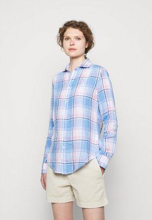 PLAID - Button-down blouse - white/blue