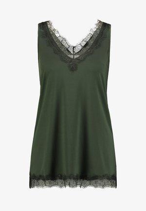 Topper - black/green