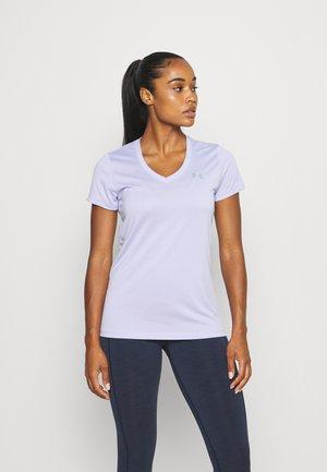 TECH SOLID - Basic T-shirt - purple/silver