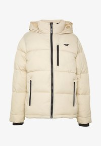 Hollister Co. - PUFFER MOCK BURG - Winter jacket - beige - 4