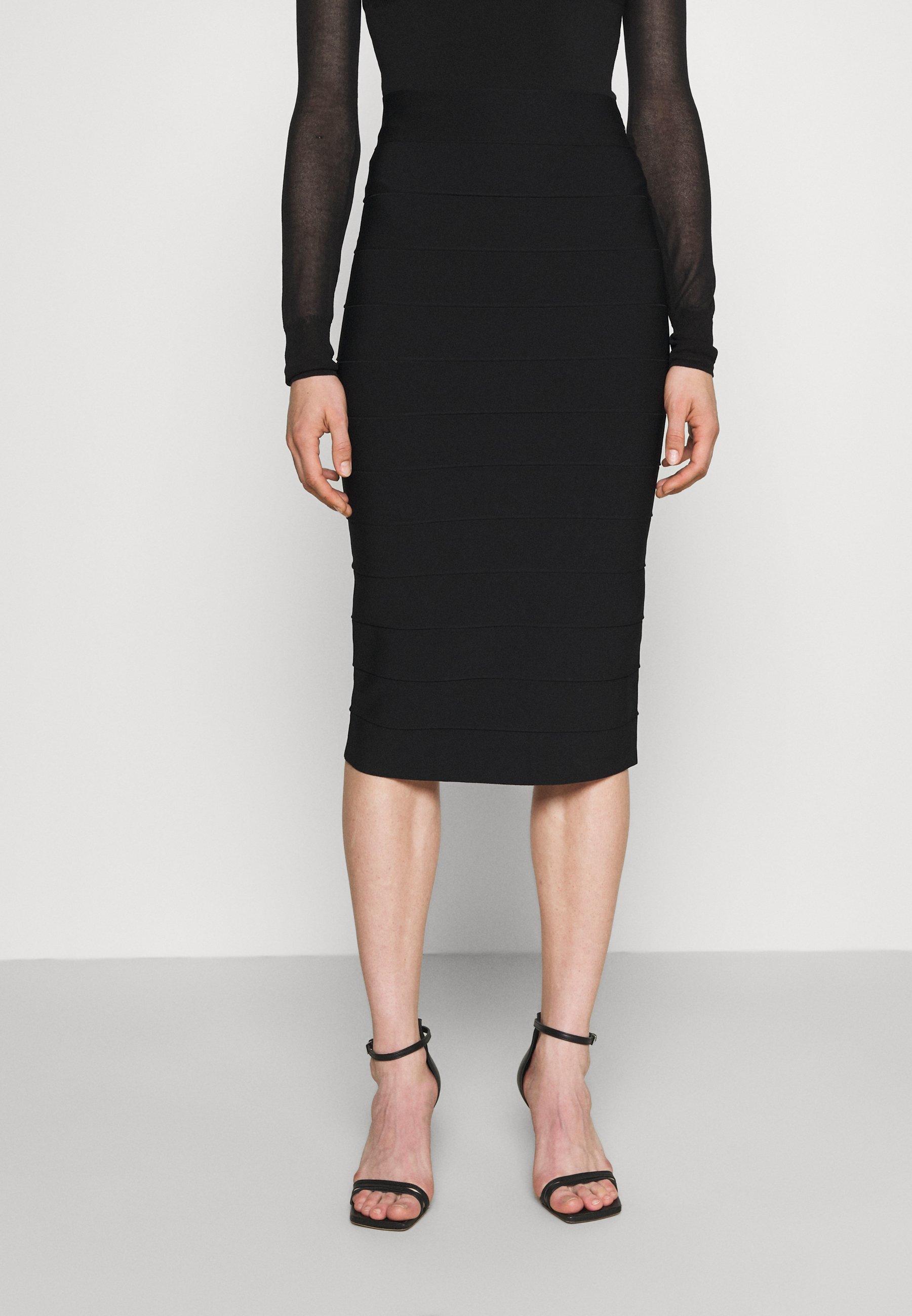 Women HERVE LEGER X JULIA RESTOIN ROITFELD PENCIL SKIRT - Pencil skirt