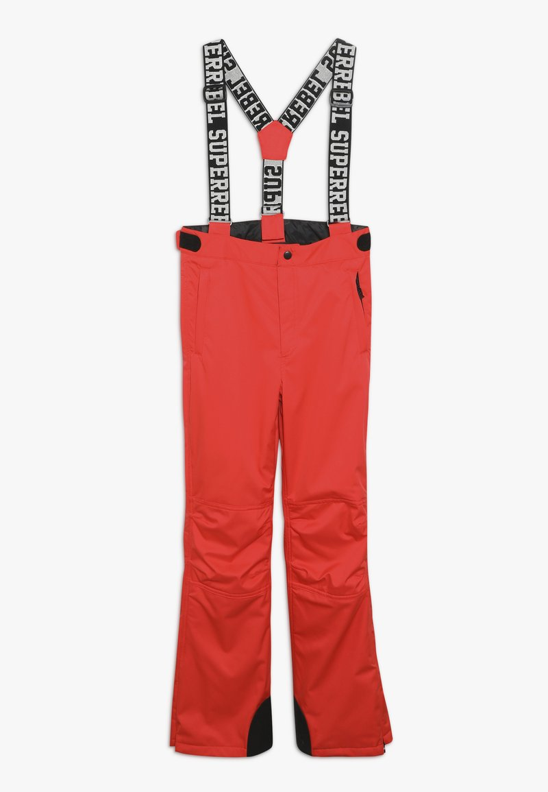 SuperRebel - SKI PANT PLAIN - Skibroek - neon red