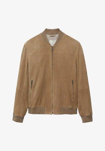 DREW-I - Leather jacket - beige