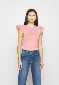 NAF NAF - MANGLAISE - T-shirt basique - rose des sables - 0