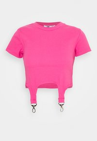 The Ragged Priest - SHORTSLEEVE RINGER TRIGGER DETAIL - T-shirts med print - pink - 4