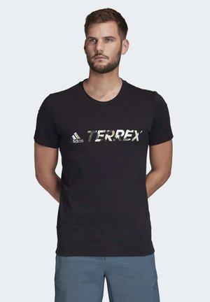 TERREX LOGO T-SHIRT - Print T-shirt - black