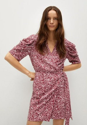 Day dress - donkerrood