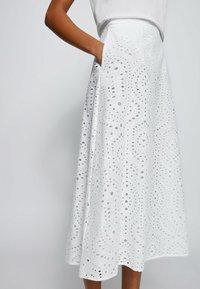 BOSS - VAJOUR - A-line skirt - white - 3