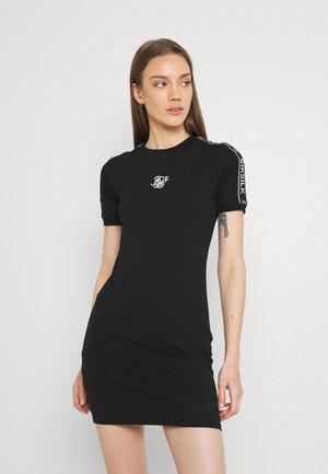 TAPE BODYCON DRESS - Vestido ligero - black