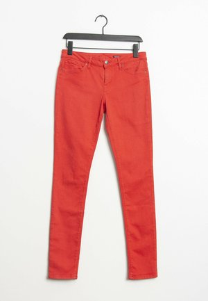 Jeansy Slim Fit - red