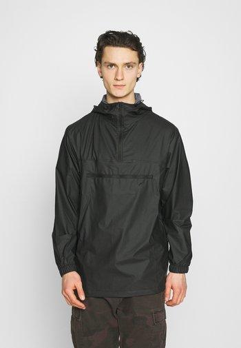 ULTRALIGHT ZIP ANORAK UNISEX - Waterproof jacket - black