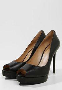MICHAEL Michael Kors - ERIKA PLATFORM - Peeptoe heels - black - 4