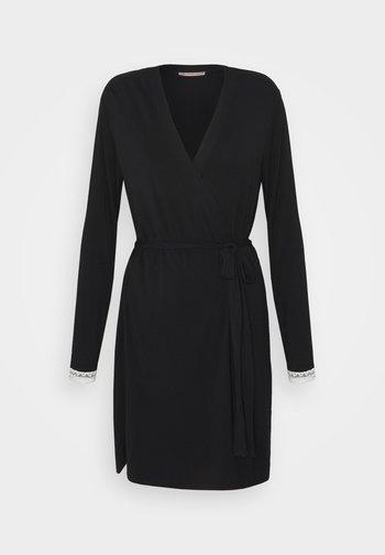 HEIDI  DRESSING GOWN - Župan - black/beige