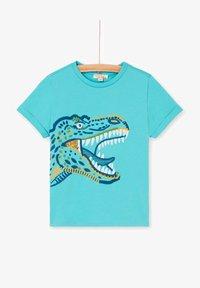 Du Pareil au Même - Print T-shirt - blue - 0