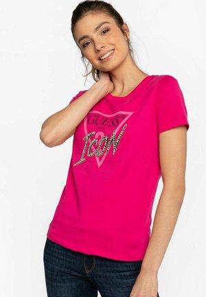 Z KRÓTKIM RĘKAWEM SS CN ICON TEE  - Print T-shirt - pink