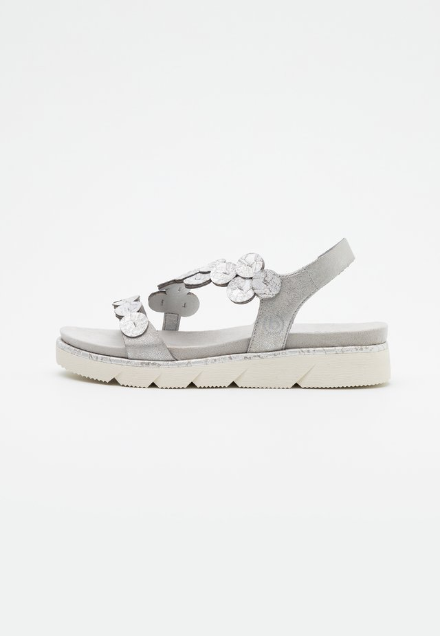 KIKO - Plateausandaler - light grey
