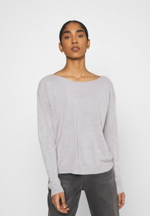 ONLAMALIA BOATNECK - Jersey de punto - light grey