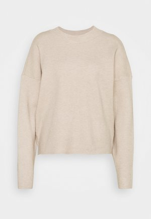VIOLIVINJA HIGH NECK TOP - Jumper - natural melange