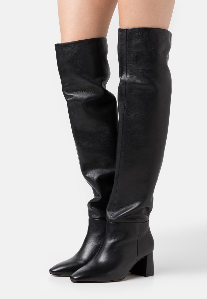 Zign - Kozačky nad kolena - black