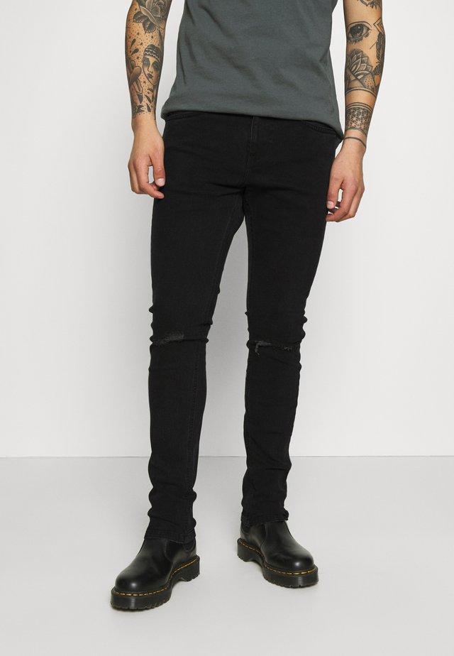 Skinny-Farkut - black vintage