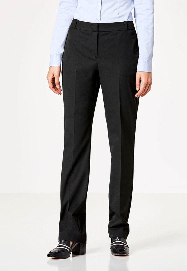 MIT BÜGELFALTE - Pantalon classique - black