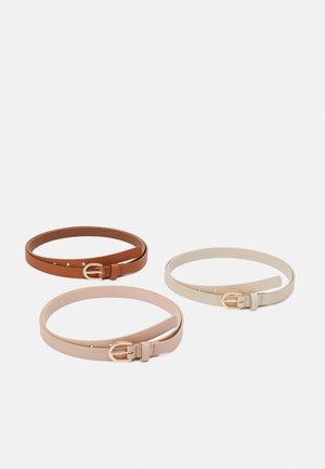 3 PACK - Belt - cognac/beige /pink