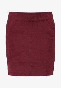 ONLY - ONLJULIE BONDED SKIRT - Mini skirt - chocolate truffle - 4