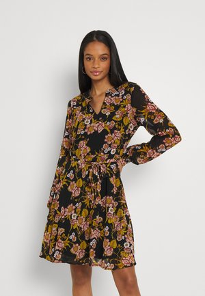 VIADELINE DRESS - Day dress - black/birch