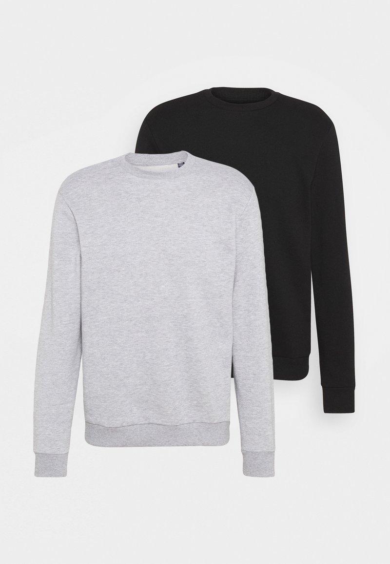 Only & Sons - ONSCERES LIFE CREW NECK 2 PACK - Sweatshirt - black