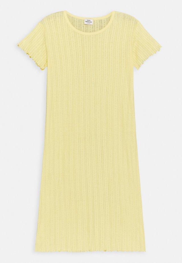 POINTELLA DRIXINA - Jersey dress - pale banana