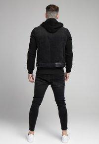 SIKSILK - JACKET - Denim jacket - black - 2